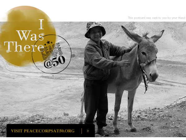 I was there, Peace Corps @50